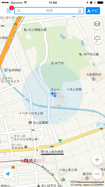 "Ikegami Tokyo Yahoo Japan Maps. As usual, Yahoo Japan has the best data quality of the ""big three""."