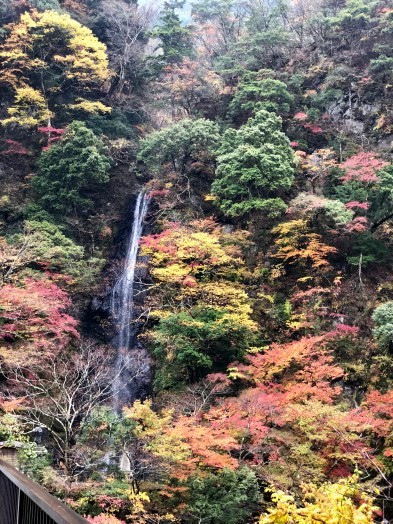 The waterfall at the bottom of Shichimensan