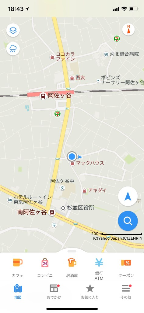 Yahoo Japan Map default view
