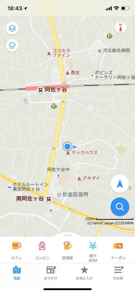 Yahoo Japan Map default view