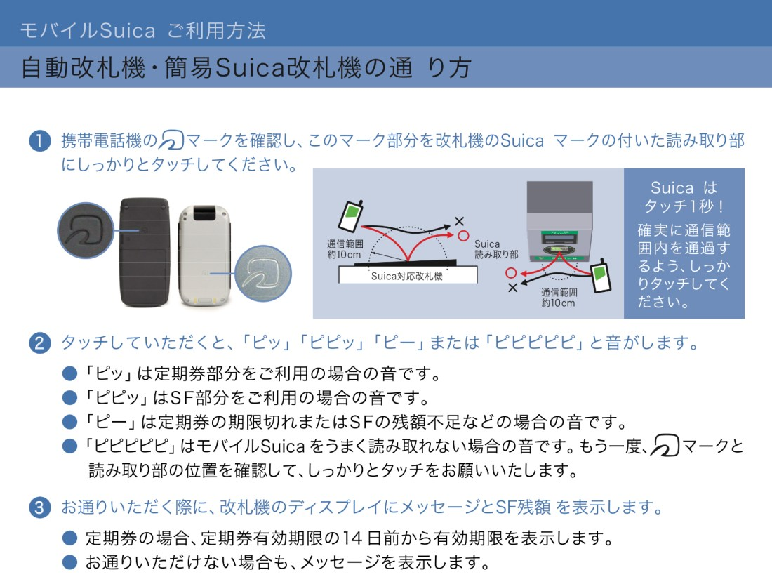 Mobile Suica and Transit Gate Sounds
