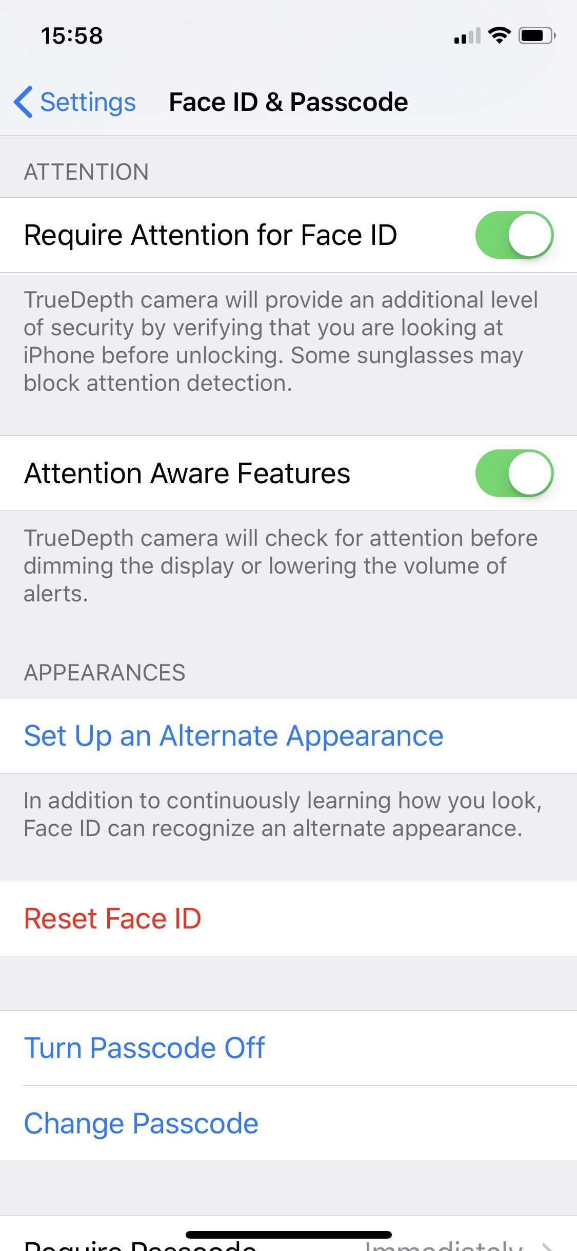 iOS 12 Alternate Appearance