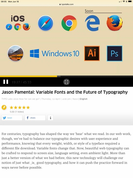 OpenType Variable Font support in focused on browsers and Adobe apps