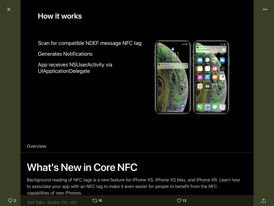 New Core NFC tricks for new iPhones