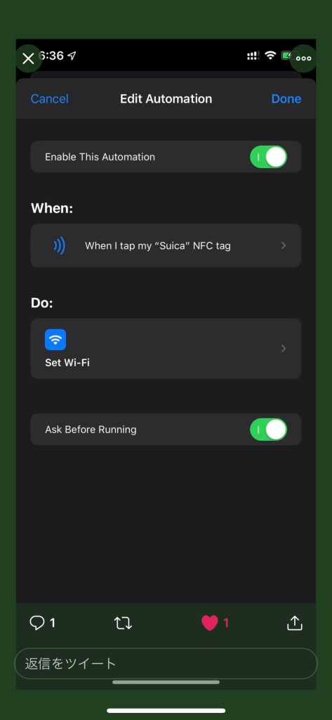 While the screen is on: Background Tags and Apple NFC