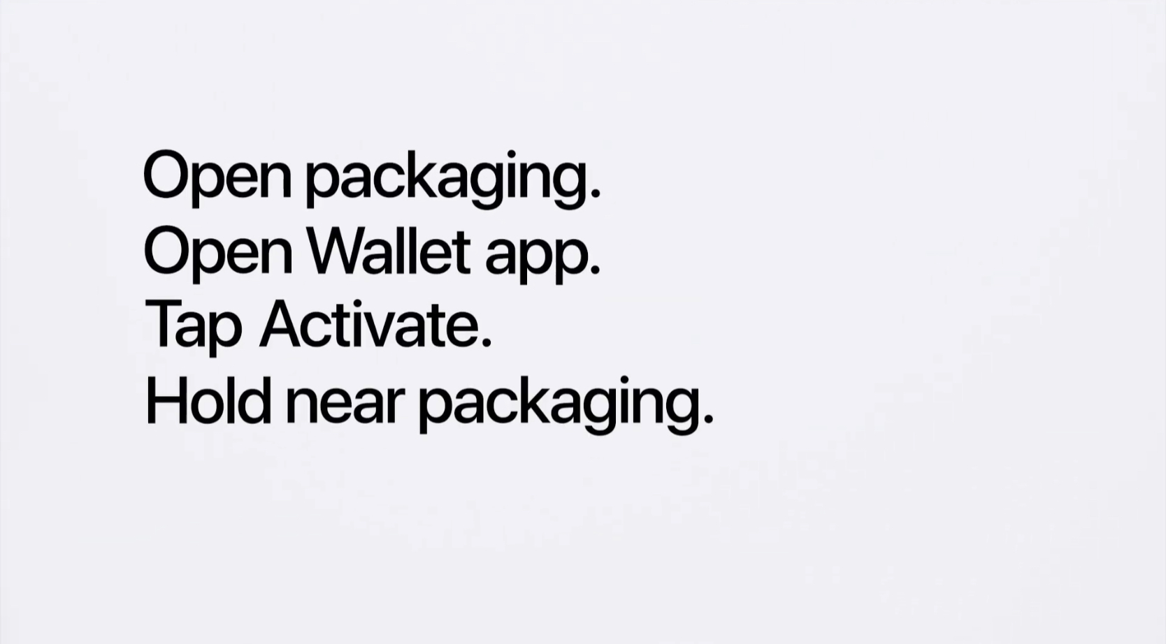 Titanium Apple Card activation with background NFC tag