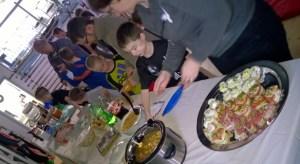 Potluck at the Atado Christmas Party