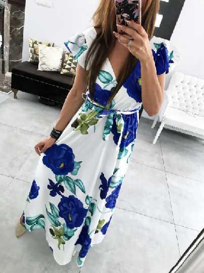 Przepiękna Sukienka Angela flower z niesamowitym wzorem kwiatowym