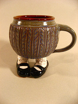 "Mary Janes ""Footed Mug"" by Sharon Miranda"