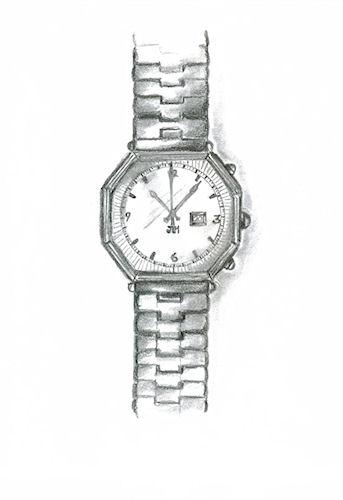 Pencil Sketch of Mens' Watch by Joana Miranda