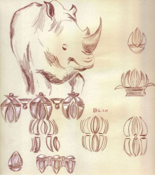 Jewelry Theme and Variations around a Rhino by Joana Miranda