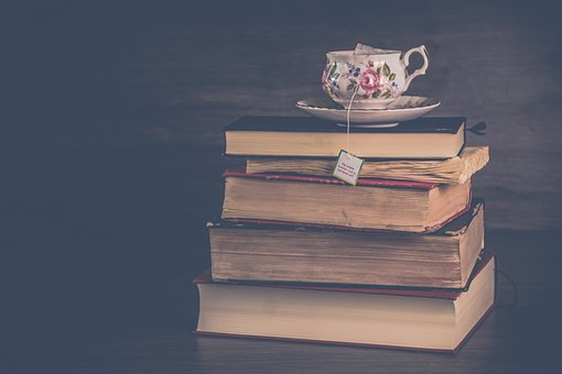 Stack of books - reading