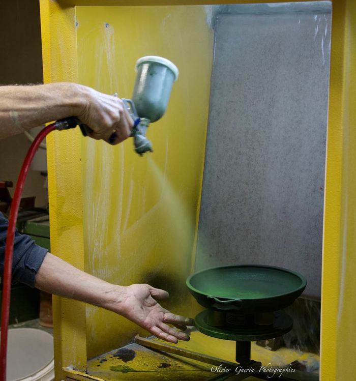 Cabine pour émailler poterie - Atap Aubagne