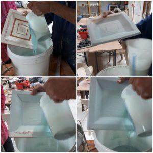Emaillage par trempage - poterie - Atap Aubagne