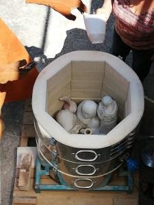 four de raku rempli de poterie poterie - Atap Aubagne