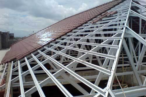 harga ongkos pasang atap baja ringan jasa untuk rumah dan kantor di sukabumi bogor