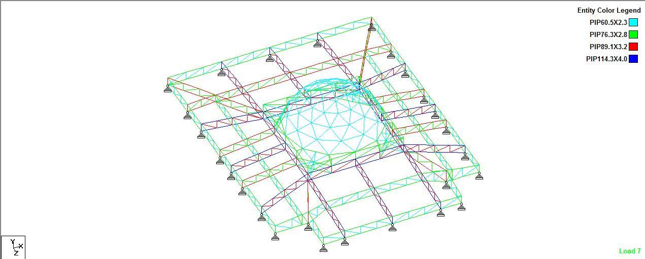 gambar rangka atap baja ringan limasan analisa struktur kubah masjid tanjung selor ...