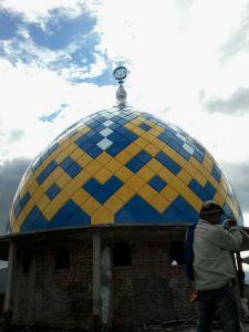 kubah,masjid,bahan,cor,grc,steel,panel,enamel,galvalum,teflon,powdercoating,bogor,puncak,wisata,jawa barat,foto,contoh,desain