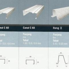Tebal Reng Baja Ringan Rangka Atap Iggi Truss Transparan