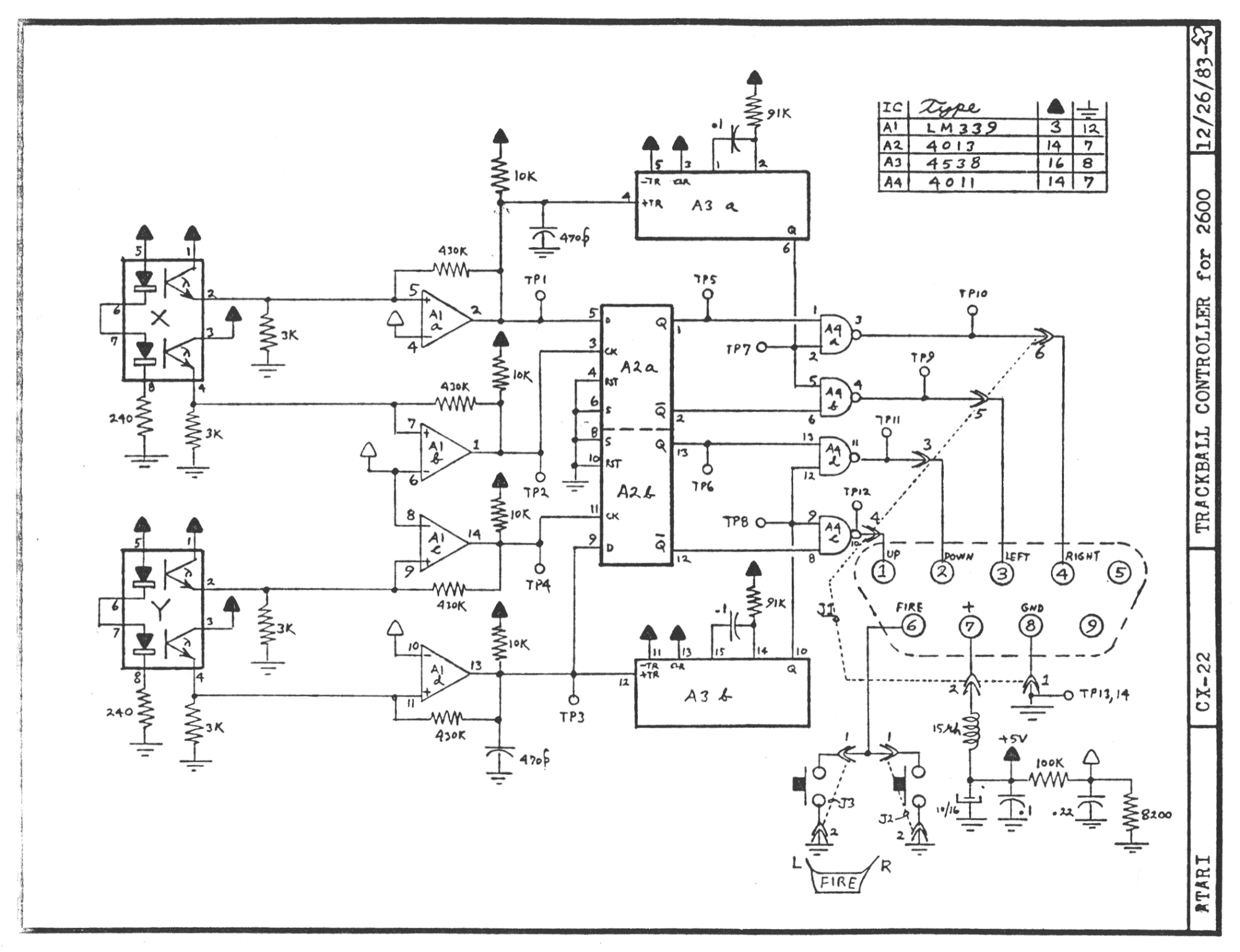 Atari 2600 Joystick Wiring Diagram Auto Electrical Related With