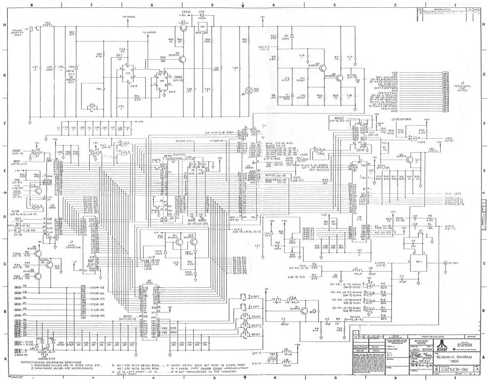 medium resolution of atariage atari 7800 schematics rh atariage com atari 2600 atari 7800 games