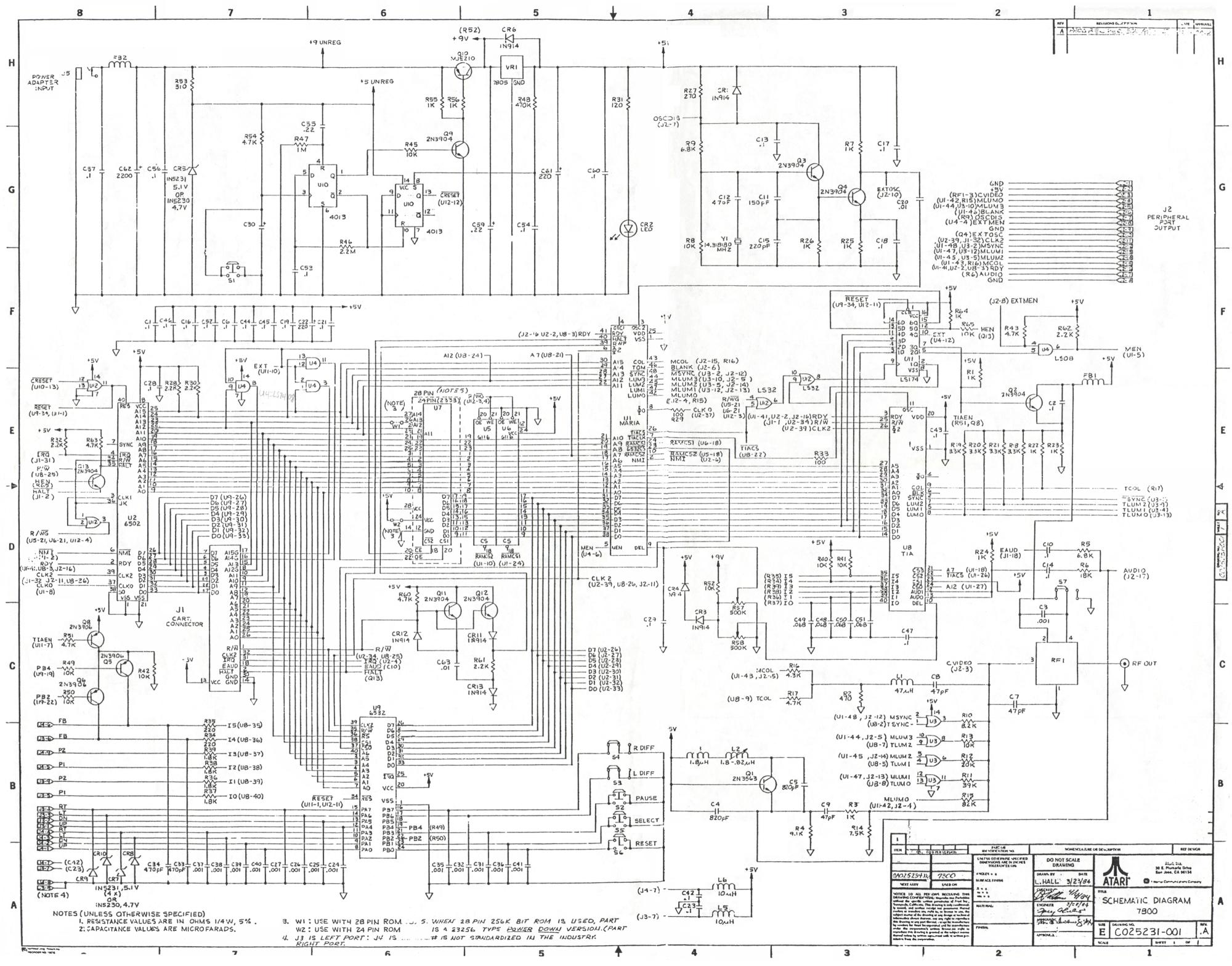 hight resolution of atariage atari 7800 schematics rh atariage com atari 2600 atari 7800 games