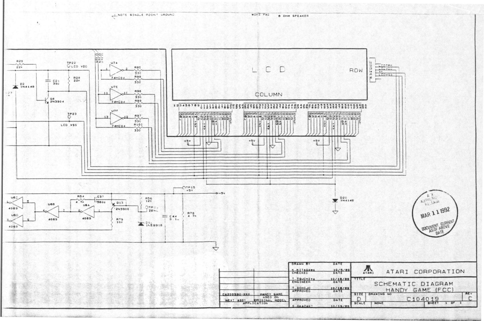 hight resolution of atariage atari lynx schematics lynx system lynx circuit diagram