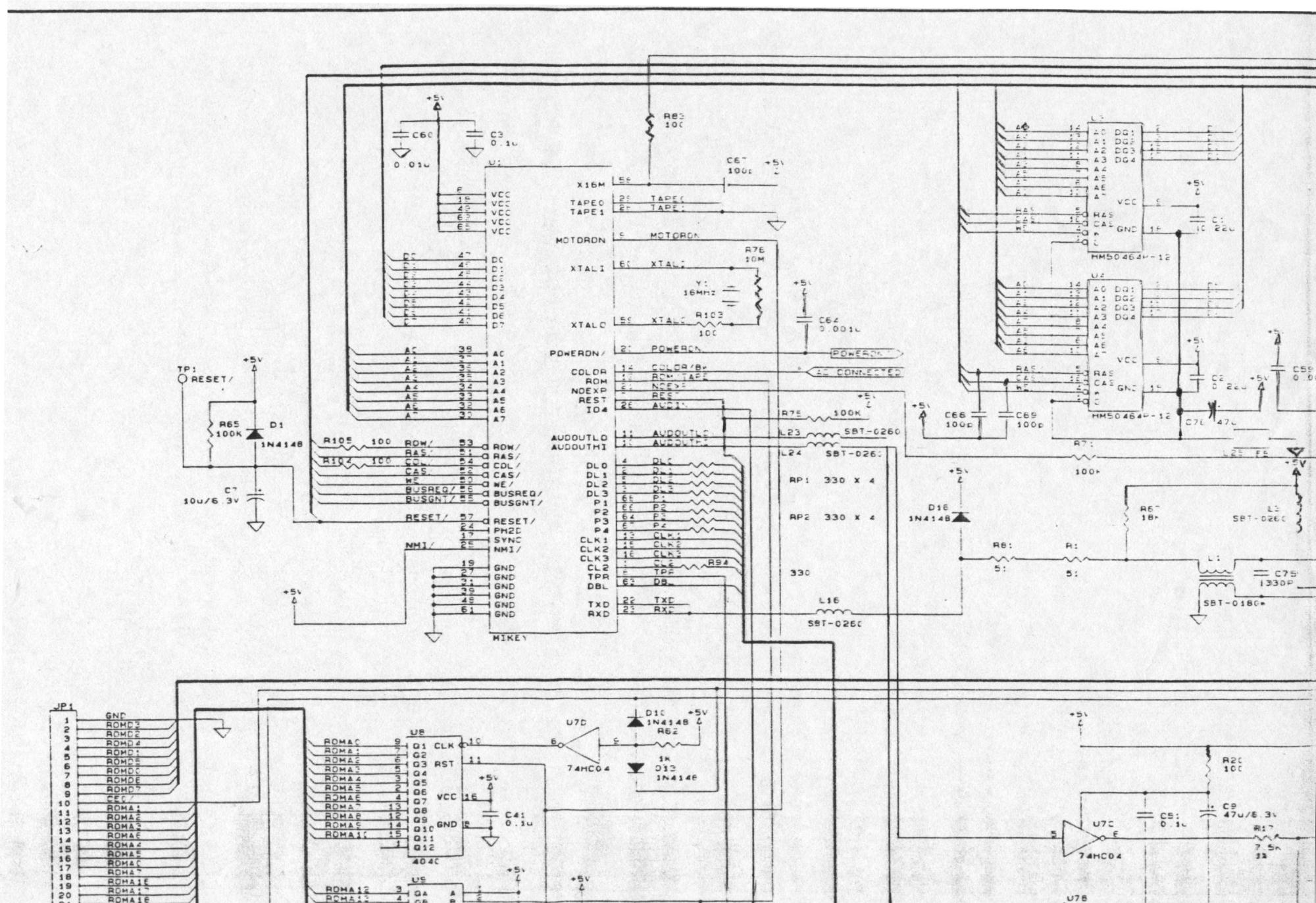 hight resolution of atariage atari lynx schematics cat diagram lynx circuit diagram