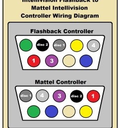 intellivision flashback to mattel intellivision controller conversion wiring diagram jpg [ 1036 x 1268 Pixel ]