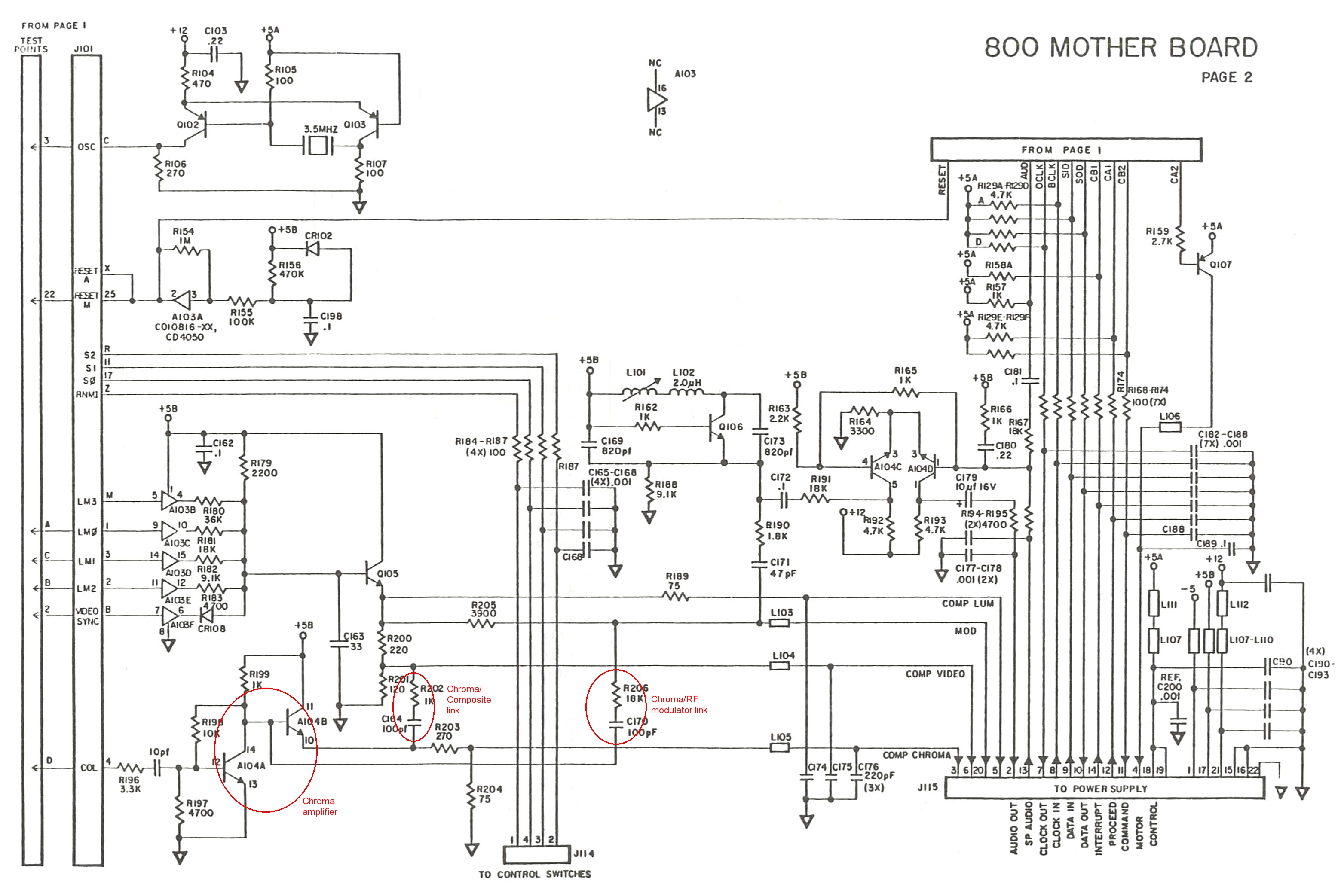 Solved Vertical Banding Atari 800xl