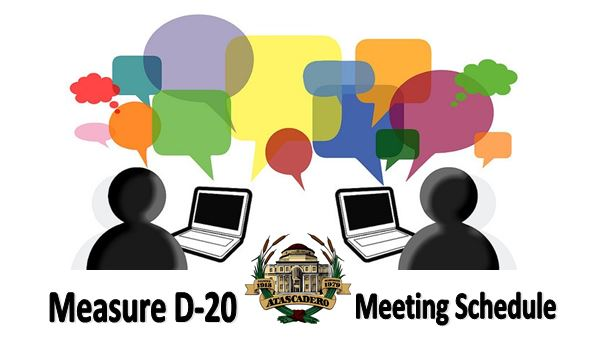City of Atascadero Public Outreach Schedule for Measure D-20