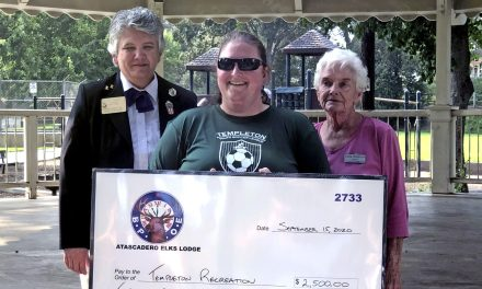 Atascadero Elks Lodge Donates Gratitude Grant to Templeton Recreation Department