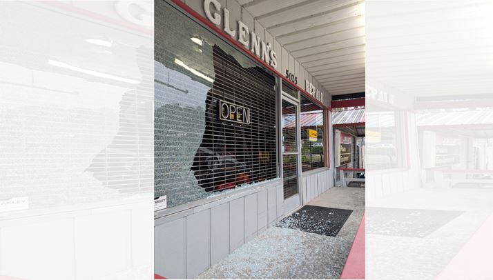 Glenn's Repair & Rental and Alle-Pia Fine Cured Meats Vandalized on Sunday