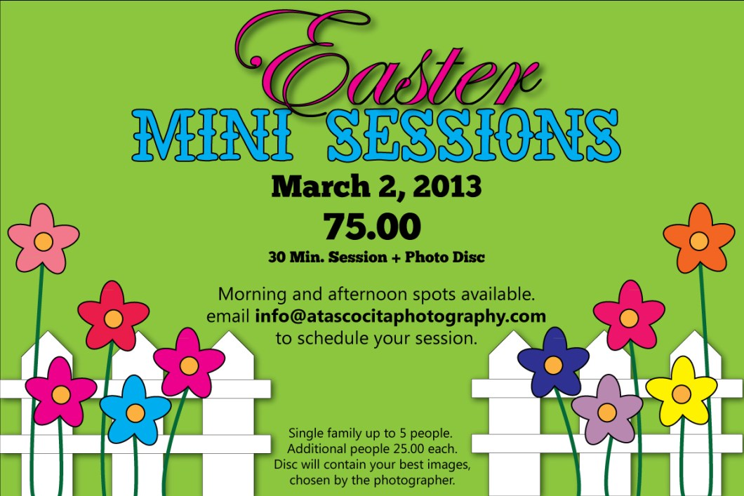 Easter Mini Session Flyer