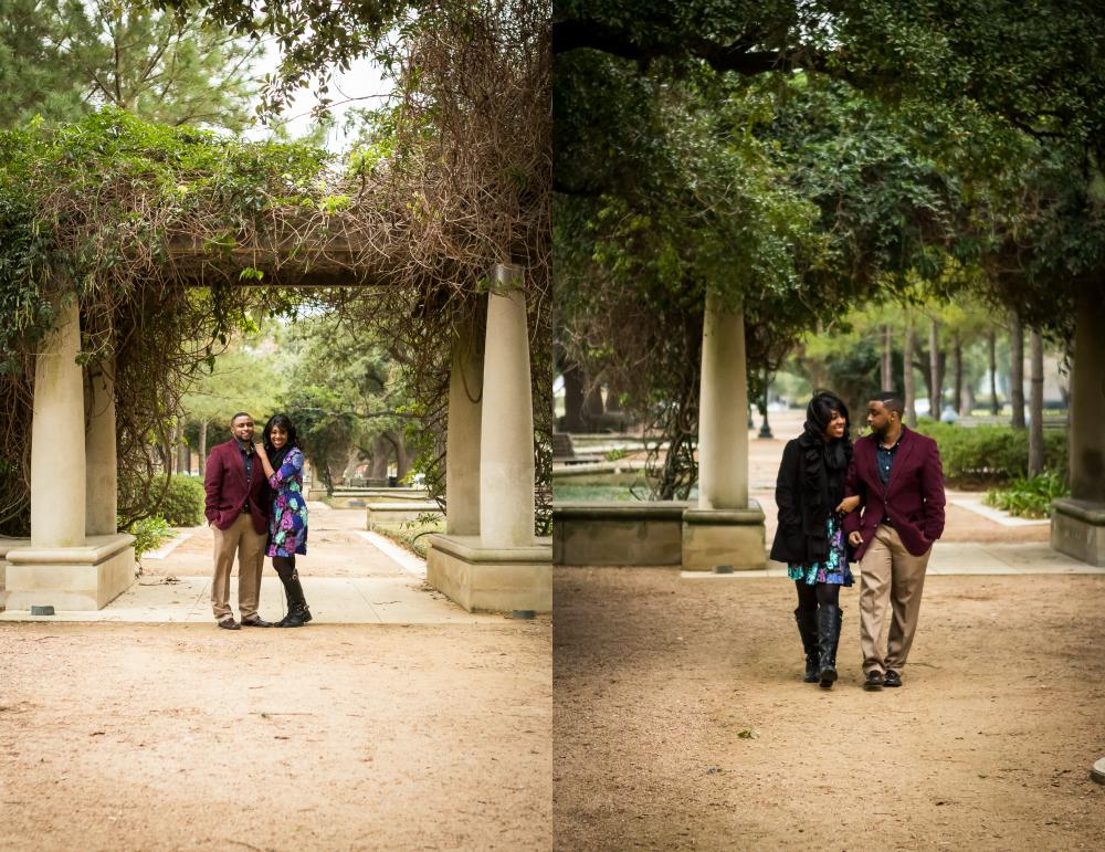 Hernann Park Engagement Session Rachel