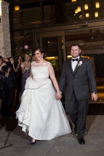 Bubble Exit by the Woodlands Resort Wedding Photographer.