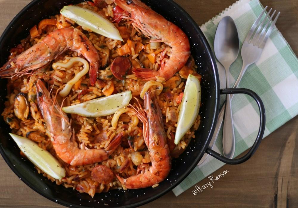 Seafood Paella (#PowerOfFrozen)
