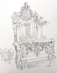 drawing by Judith S. Clancy, 1979