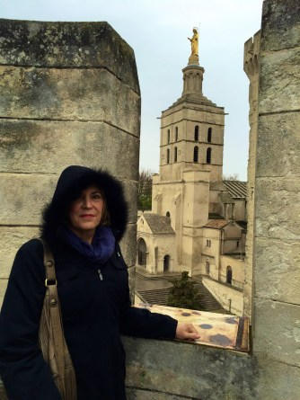 papal tower thru a rampart
