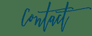 Contact in Blue Script Font