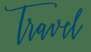 Travel in Blue Script font