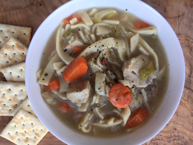 Bowl of Chicken Noodle Soup 2