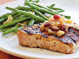 porkchops with apple cran sauce