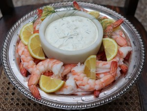 Shrimp with lemon dill sauce