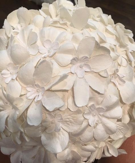 finished paper flower globe