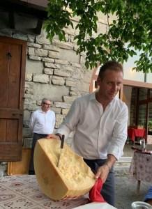 Huge wheel of Parmesan Cheese