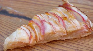 slice of apple tart