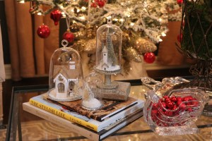 Christmas decoration with houses and cloches