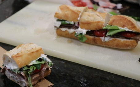 Beef and blue cheese sandwiches