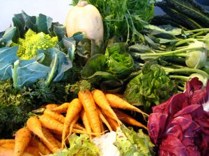 colorful winter vegetables